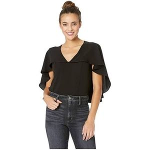 Adelyn Rae Dera | Black Woven Cape Top Large *NWT
